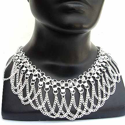 Silver Chain Link Necklace NECKA