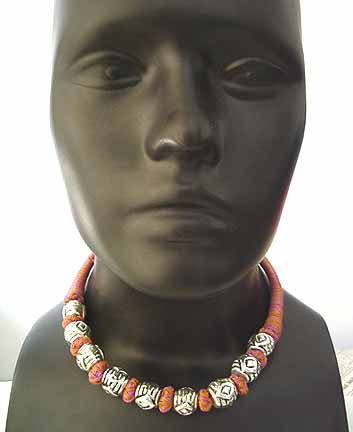 Chunky Metal Bead Necklace AB