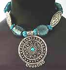 Belly Dancing Medallion Necklace with Beads AJ