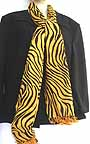 Animal Print Tiger Striped Faux Pashmina Shawl 28 x80  SCS