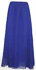 Chiffon Skirt Blue Circle with gathers
