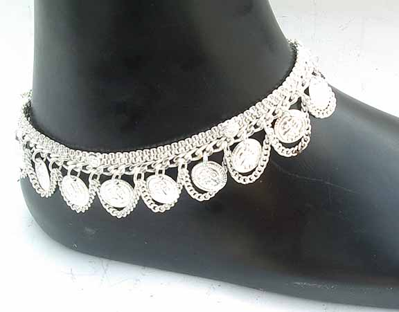 Silver Indian Anklets A