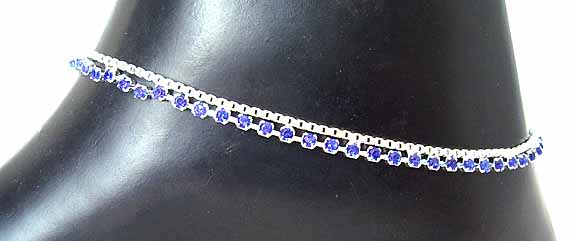 Traditional Indian Anklets A Blue