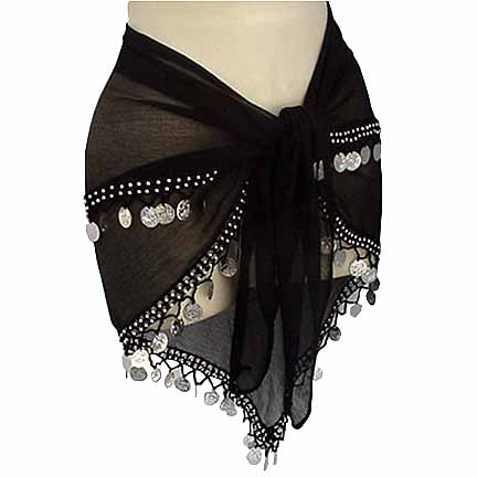Wholesale Lot 5 Pcs 2 Line Hip Scarf - USD8.99 each Assorted Colors