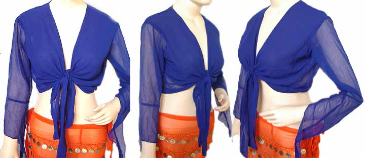 Royal Blue Belly Dancing Boho Choli Top Gypsy