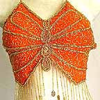 Belly Dancing Bra Top Orange A