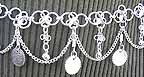 Belly Dancing Silver Belly Chain Coin Belt Waist Chain Design C