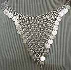 Belly Dance Silver Belly Waist Chain Coin Belt Design L