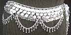 Belly Dancing Waist Chain Silver Belly Chain Coin Belt Design M