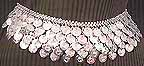 Belly Dance Silver Belly Chain Coin Belt Design V