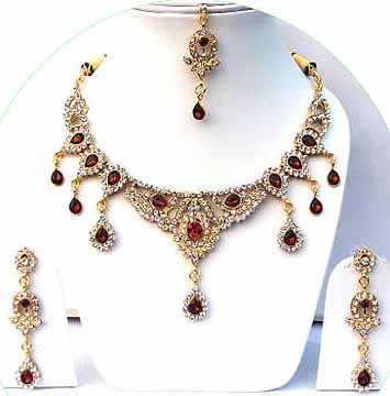 Gold Diamond Bridesmaid Jewelry Set JVS-25
