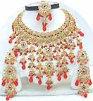 Gold Diamond Bollywood Attire Jewelry Set JVS-35