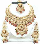 Bollywood Attire Gold Diamond Jewelry Set JVS-40