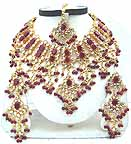 Gold Diamond Bollywood Jewelry Set JVS-42