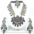 Gold Diamond Bollywood Jewelry Set JVS-43