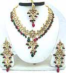Gold Diamond Bollywood Jewelry Set JVS-44