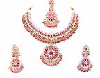 Gold Diamond Bridal Jewelry Set JVS-04