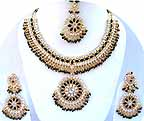 Gold Diamond Bridal Jewelry Set JVS-06