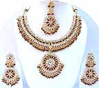 Gold Diamond Bridal Jewelry Set JVS-07