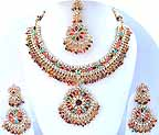 Gold Diamond Bridal Jewelry Set JVS-08