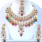 Gold Diamond Bridal Jewelry Set JVS-09