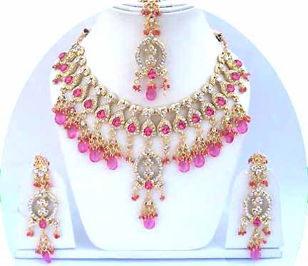 Gold Diamond Bridal Jewelry Set JVS-10