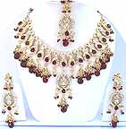 Gold Diamond Bridal Jewelry Set JVS-11