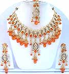 Gold Diamond Bridal Jewelry Set JVS-12