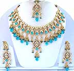 Gold Diamond Bridal Jewelry Set JVS-13