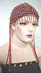 Belly Dancer Cap Brown Beads with Grey Beads.