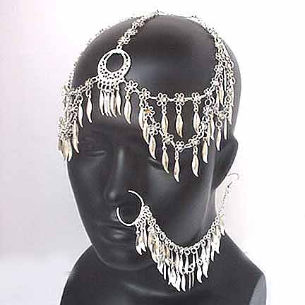 Bridal Jewelry Set with Forehead and Nose piece Ref A