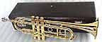 New Brass Deluxe Bb Trumpet with Mouthpiece and Hardcase