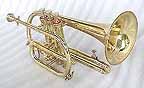 New Brass Bb Cornet with Case