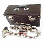 New Silver Bb Cornet with Case
