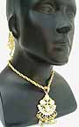 Necklace with Earrings set Yellow Beads 1K