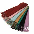 Silky Faux Pashmina Stole size 28x80 inches Choose from 34 Colors