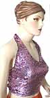 Lilac Sequin Halter Top