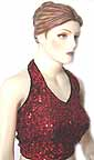 Red Sequin Halter Top