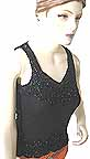 Black Net Top Beaded and Sequined